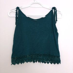 Turquoise Tank With Tie Straps